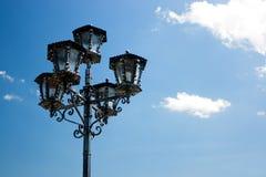 gammal gata för lampa Royaltyfria Bilder