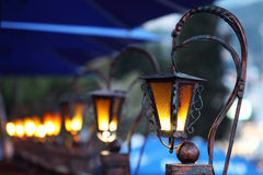 gammal gata för lampor Royaltyfria Bilder