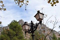 gammal gata för lampor Royaltyfri Bild