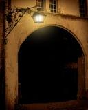 gammal gata för lykta Royaltyfri Fotografi