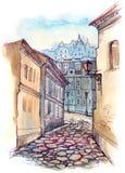gammal gata för stad