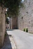 gammal gata för stadsjeruslaem Arkivfoto