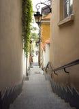 Gammal gata för Warszawa Fotografering för Bildbyråer