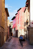 gammal gata för stad Logrono Arkivbild