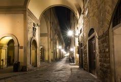 Gammal gata i Florence royaltyfri foto