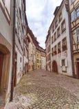 Gammal gata i lilla Venedig, Colmar, Alsace, Frankrike royaltyfri foto
