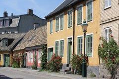 Gammal gata i Lund Sverige Royaltyfri Bild