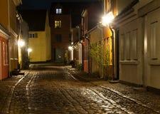 Gammal gata i Odense Royaltyfri Fotografi