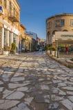 Gammal gata i Veliko Tarnovo Arkivbilder