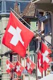 Gammal gata i Zurich Arkivbilder