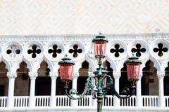 Gammal gata-lampa Royaltyfri Fotografi