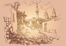 gammal gatatown Arkivbild
