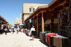 gammal gatatown byggda uzbekistan fotografering för bildbyråer