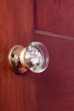 Gammal glass dörrknopp Royaltyfria Bilder