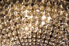 Gammal glass ljuskrona Arkivfoton