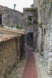 Gammal gränd i Ez-ville Royaltyfri Fotografi