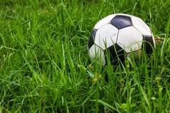 Gammal gräsdagg för fotboll arkivbilder