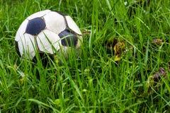 Gammal gräsdagg för fotboll royaltyfri fotografi