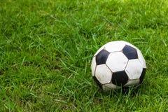 Gammal gräsdagg för fotboll royaltyfri foto