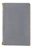 Gammal grå färgläderbok Arkivbild
