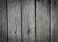 Gammal grå trätextur för bakgrund eller modell Träbakgrund med gjorda mörkare kanter tätt upp Royaltyfri Fotografi