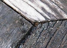 Gammal grå wood texturbakgrund Royaltyfri Foto