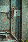 Gammal grön dörr Royaltyfri Foto