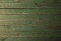 Gammal grön träbakgrund, slut upp Royaltyfri Bild