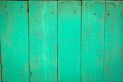 Gammal grön wood plankatextur Arkivbilder