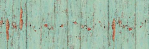 Gammal grön wood plankaväggtextur arkivfoto