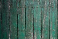 Gammal grön woodlevägg Arkivbilder