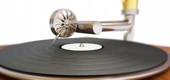 Gammal grammofon Royaltyfri Fotografi