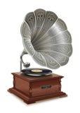 Gammal grammofon Royaltyfria Bilder