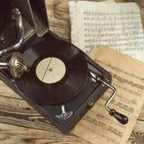 gammal grammofon Arkivbild