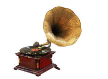 Antik grammofon Royaltyfri Bild