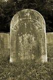 gammal gravestone Royaltyfri Bild