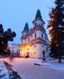 Gammal grekisk katolsk domkyrka i Ternopil Fotografering för Bildbyråer