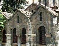 Gammal grekisk kyrka i Aten Grekland arkivfoto