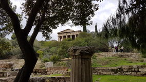 Gammal grekisk monument arkivbild