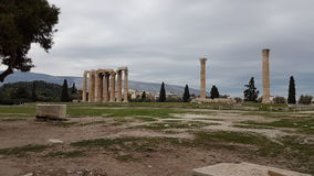 Gammal grekisk monument arkivfoto