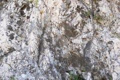 Gammal gropig textur av en forntida stenvägg Arkivbilder