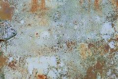 Gammal grunge korroderad rostad metallväggtextur Fotografering för Bildbyråer
