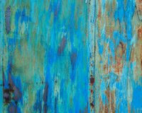 Gammal grunge korroderad rostad metallväggtextur Royaltyfria Foton