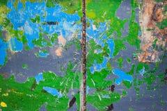 Gammal grunge målat trä Fotografering för Bildbyråer
