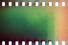 Gammal grungefilmstrip fotografering för bildbyråer
