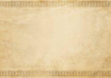 Gammal grungepapperstextur med den dekorativa gränsen Royaltyfri Bild