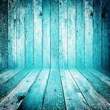 Gammal grungy blå wood bakgrund Royaltyfri Bild