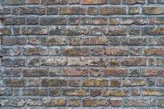 Gammal grungy lantlig tegelstenvägg - högkvalitativ textur/bakgrund royaltyfria foton