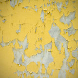 Gammal gul målarfärgvägg Royaltyfri Fotografi