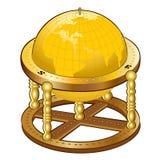 Gammal guld- jordklotsfär Royaltyfria Bilder